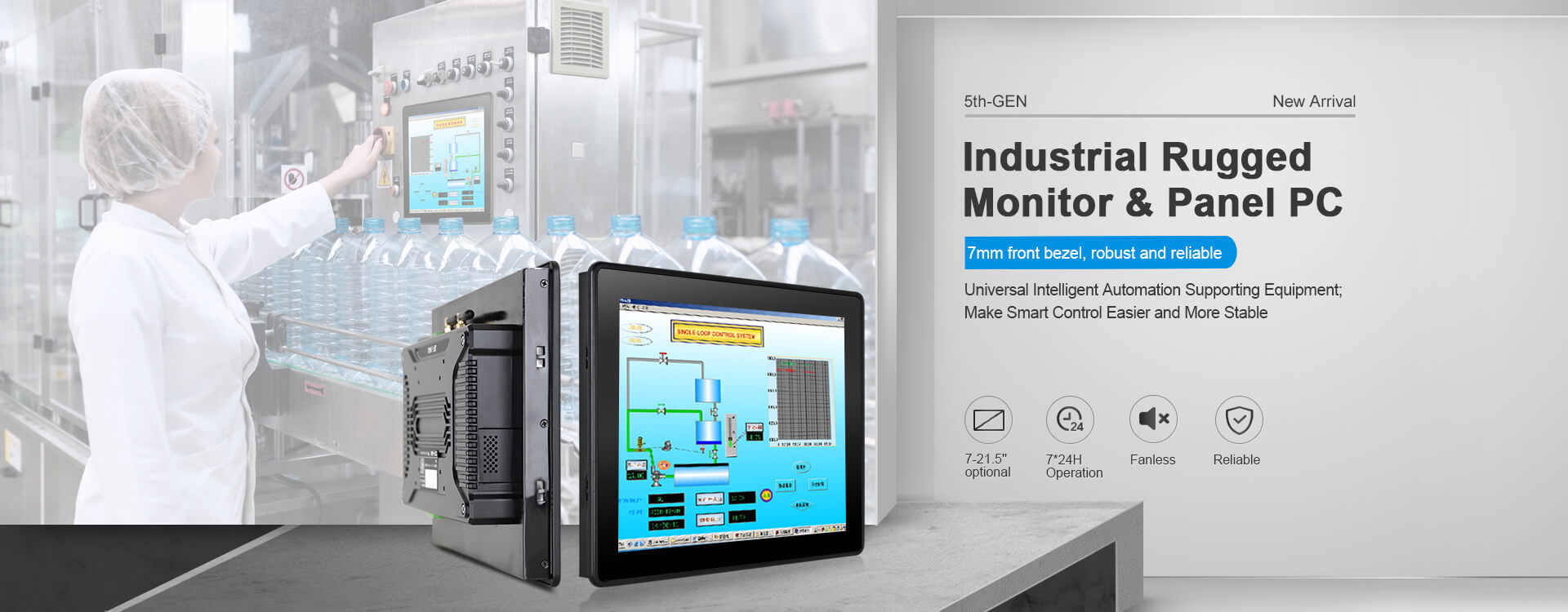 Touch Think 5th-GEN Industrial Rugged Touch Monitor and Panel PC