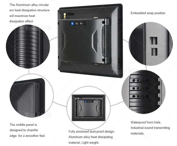 """Embedded All In One PC Industrial Grade IP65 Rated 10.4"""""""