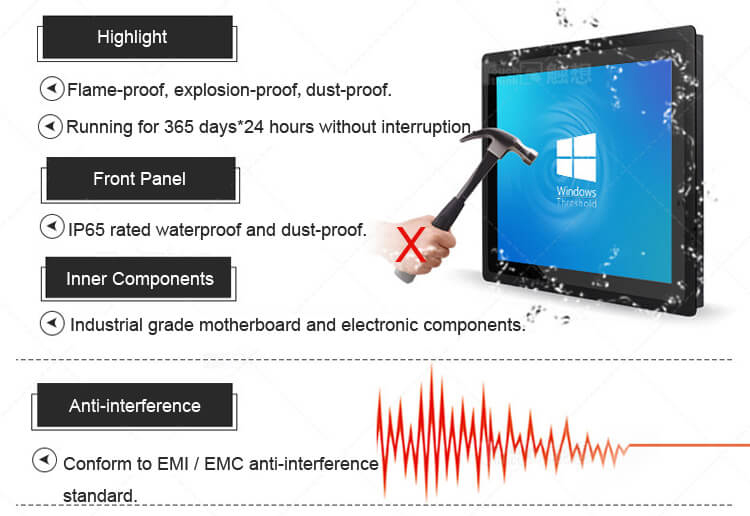 """Industrial Touch Display Monitor IP65 10.4"""""""