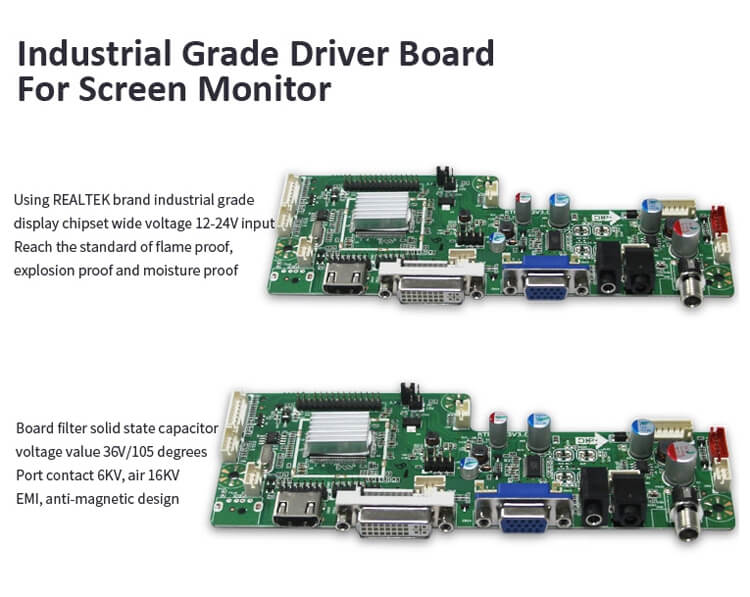 Professional Industrial Grade Display TFT LCD Monitor Hot Sale 13.3""