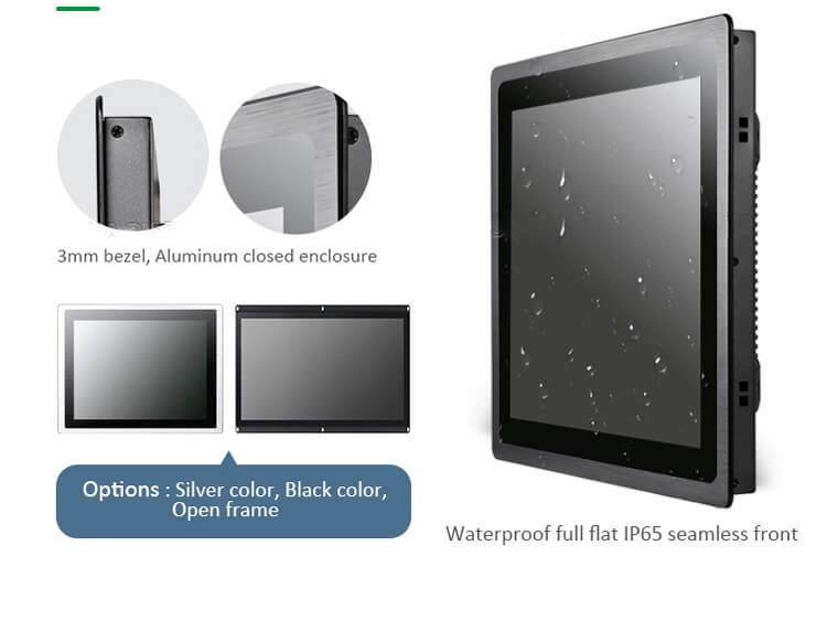 """Metal Case Industrial Touch Screen Monitor 15.6"""""""