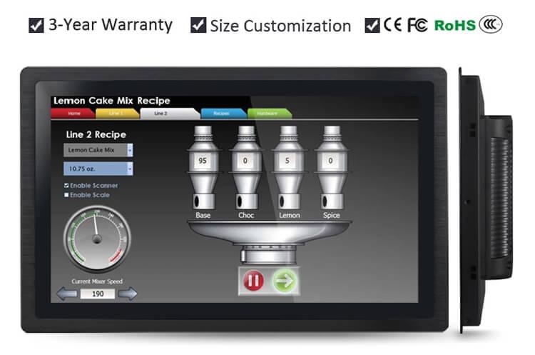 """Industrial Grade LCD Monitor IP65 Waterproof 21.5"""""""