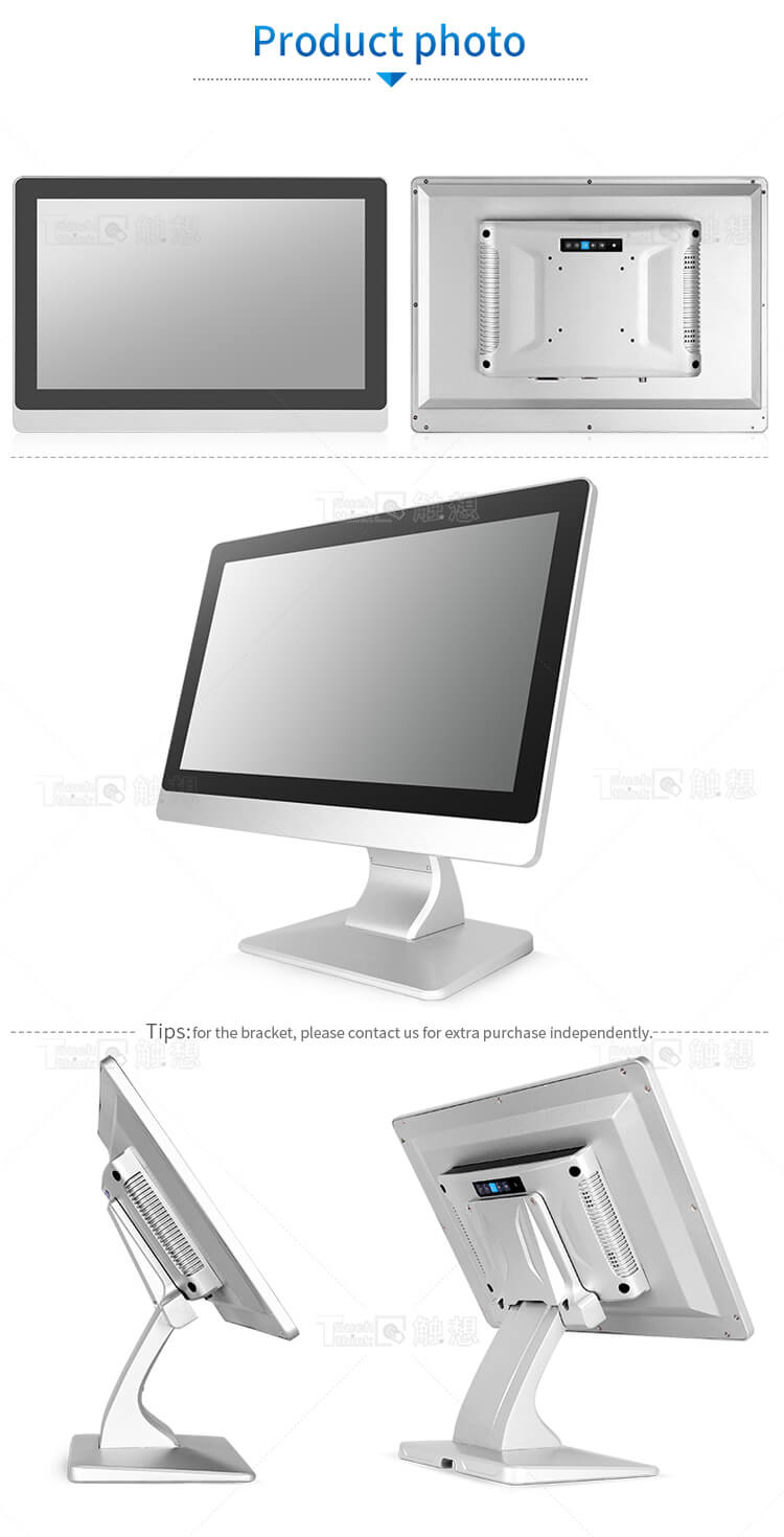 Industrial Touch Screen Monitor High Brightness Waterproof 21.5""