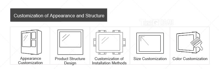 """Embedded Industrial Display Touch Screen Monitor for Kiosk 17.3"""""""