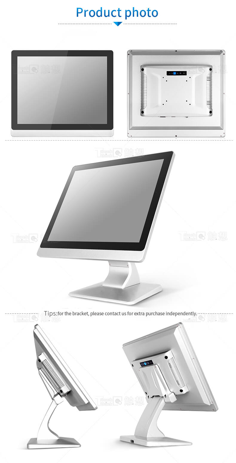 "Flat Panel Industrial Monitor Wide Screen HD 17"""