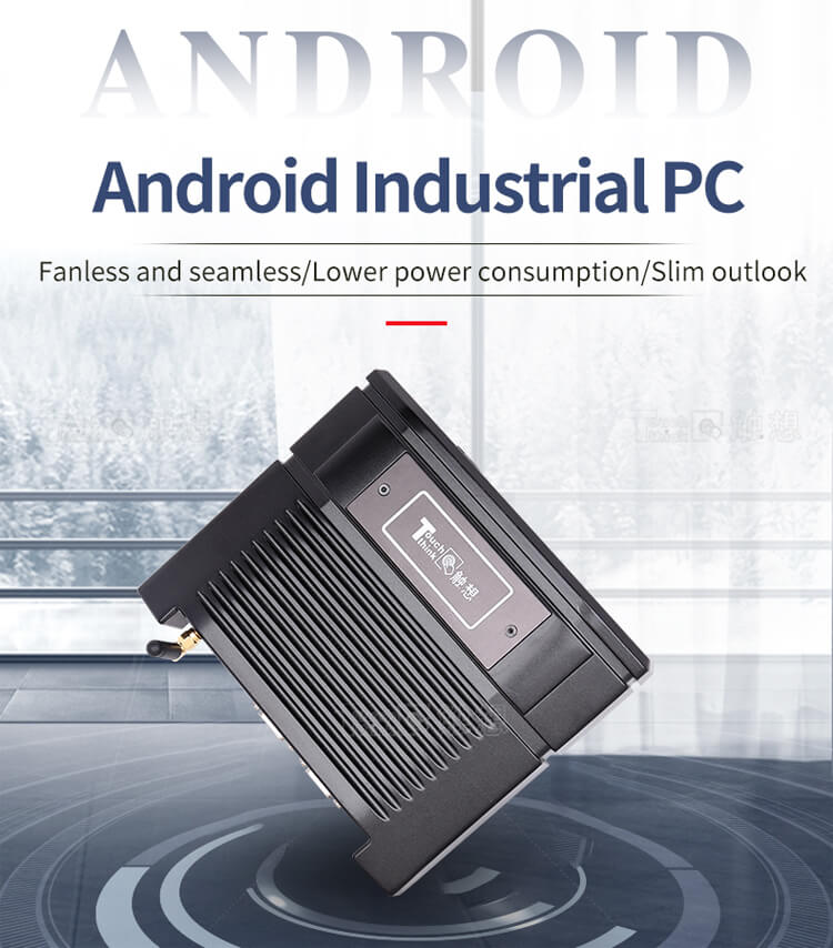 Fanless Embedded Computers mini size industrial PC Android Box PC