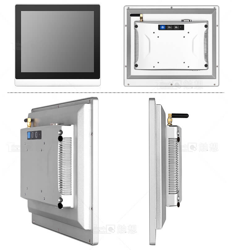 Fanless Panel PCs with Core i3/i5/i7 CPUs 12 Inch