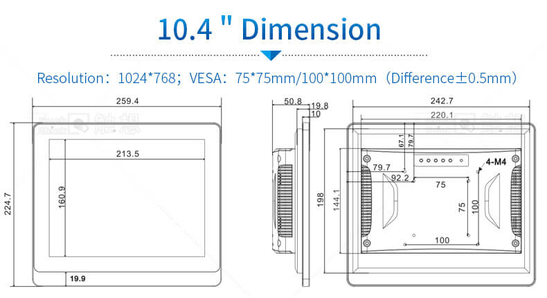 10.4 inch industrial panel pc