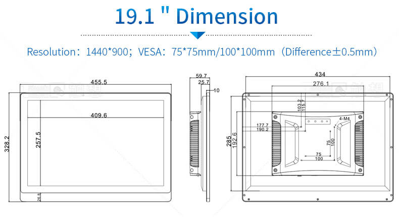 19.1 inch industrial panel pc
