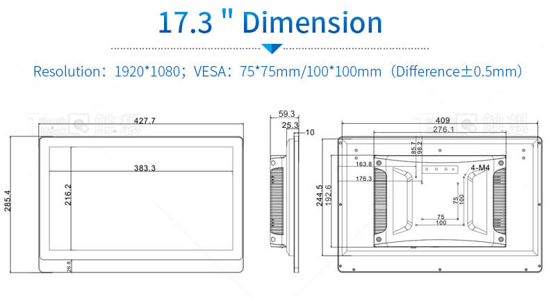 17.3 inch industrial panel pc