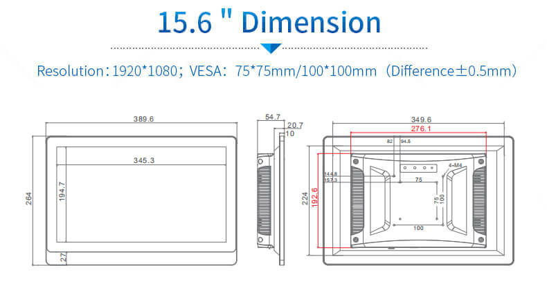 15.6 inch industrial panel pc