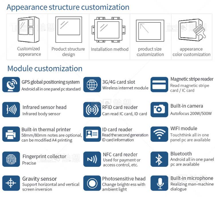 "Resistive Touchscreen PCs 12"" J1900 Configuration"