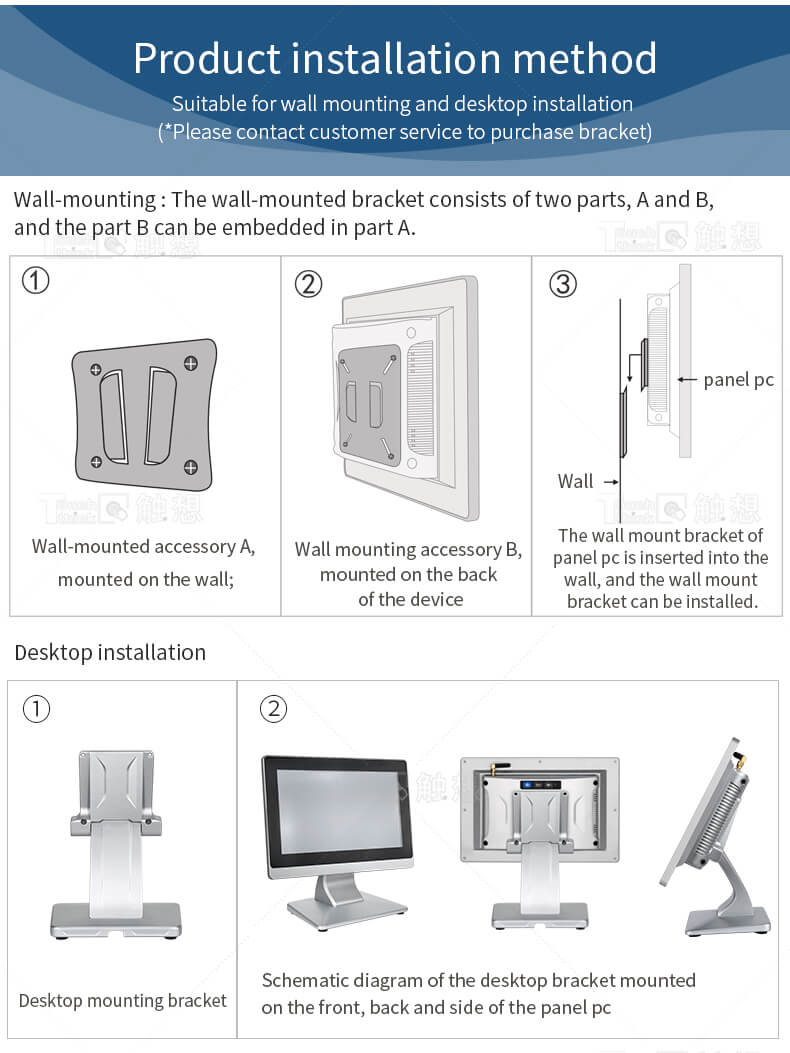 """Wall Mount All in One PC 10.4"""""""