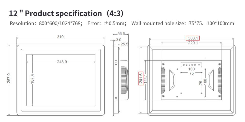"VGA Input LCD Monitor Industrial Use Monitor 15"""