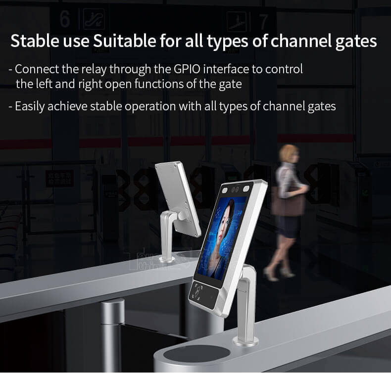 "8"" Facial Recognition Terminal For Turnstile Access Control"