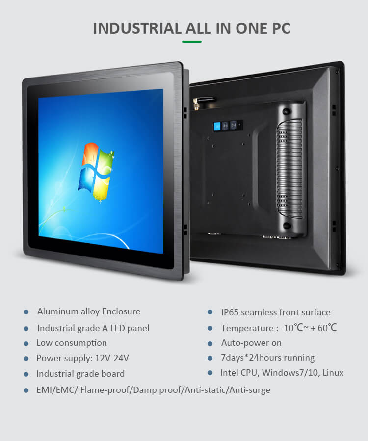 Industrial Panel PC Support Wide Temperature Operation 21.5 Inch