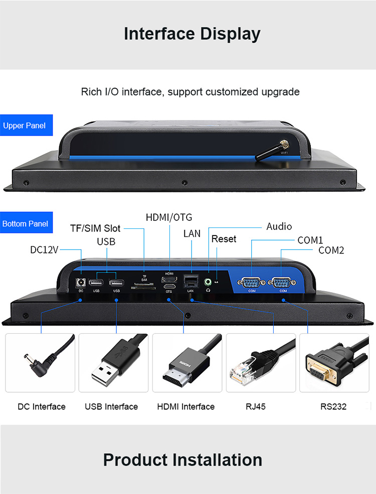 Fanless Industrial Panel PC Support Wide Temperature Operation