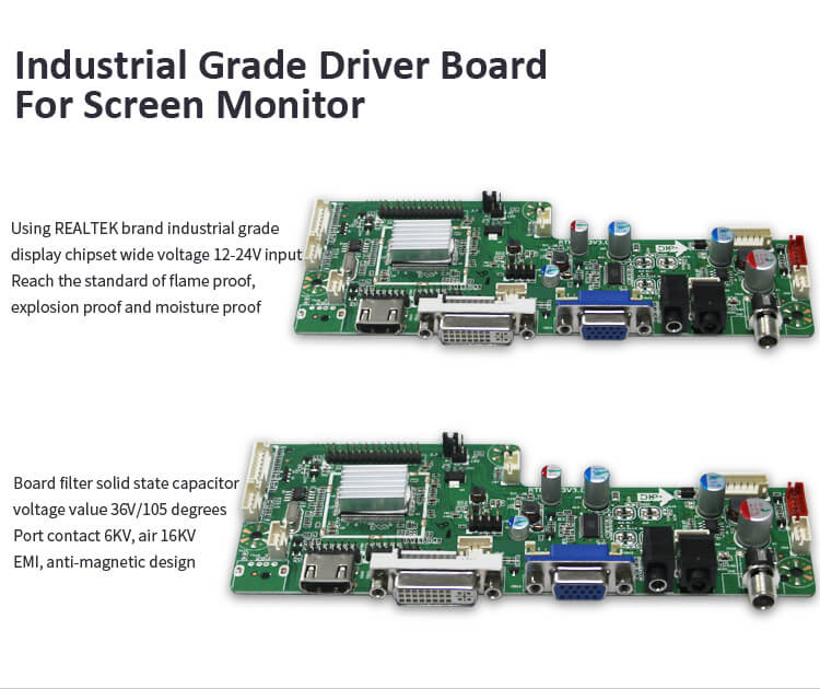 Newest LCD Industrial Monitor with High Resolution 19 Inch