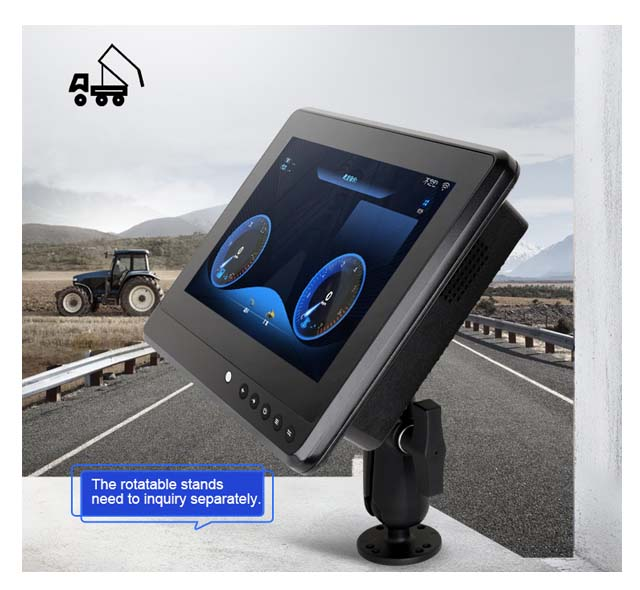 """10.1"""" Vehicle Mount LCD Monitors Vehicle Touch Displays"""