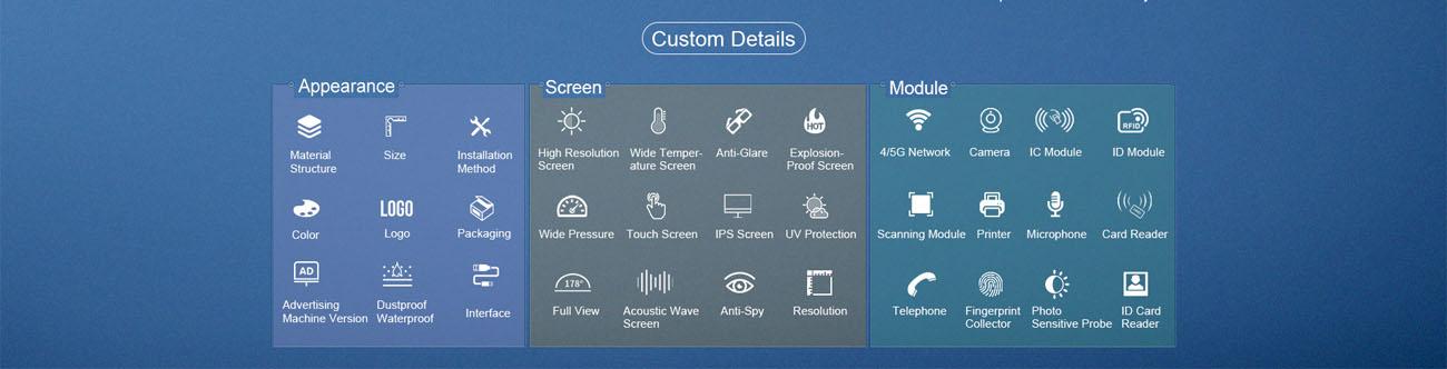 Wall Mount Industrial Display IP65 Waterproof Dustproof 8 Inch