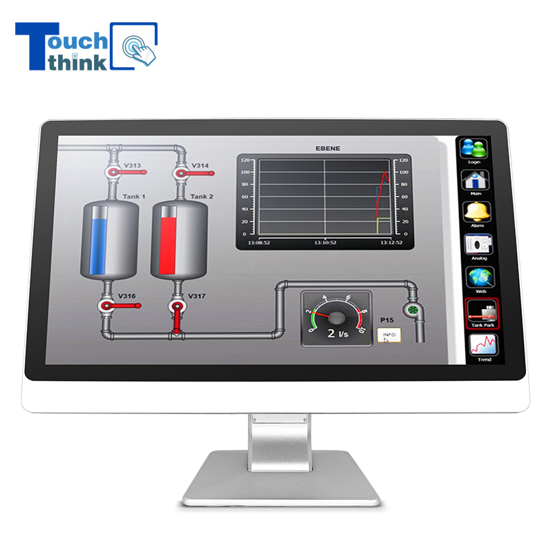 Industrial Touch Screen Monitor High Brightness Waterproof 21.5 inch
