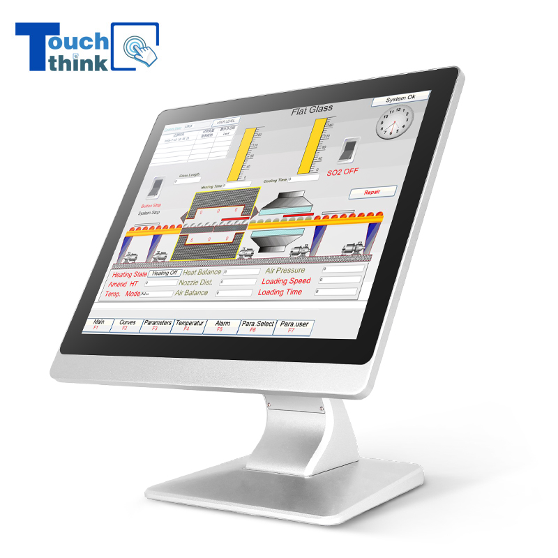 Rugged Design Aluminum Fanless Industrial Touch Screen Panel PC 17
