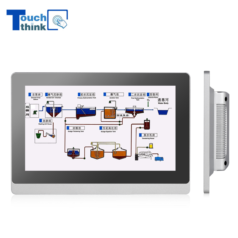 Industrial Monitor For Water And Sewage Treatment Solution 17.3 Inch
