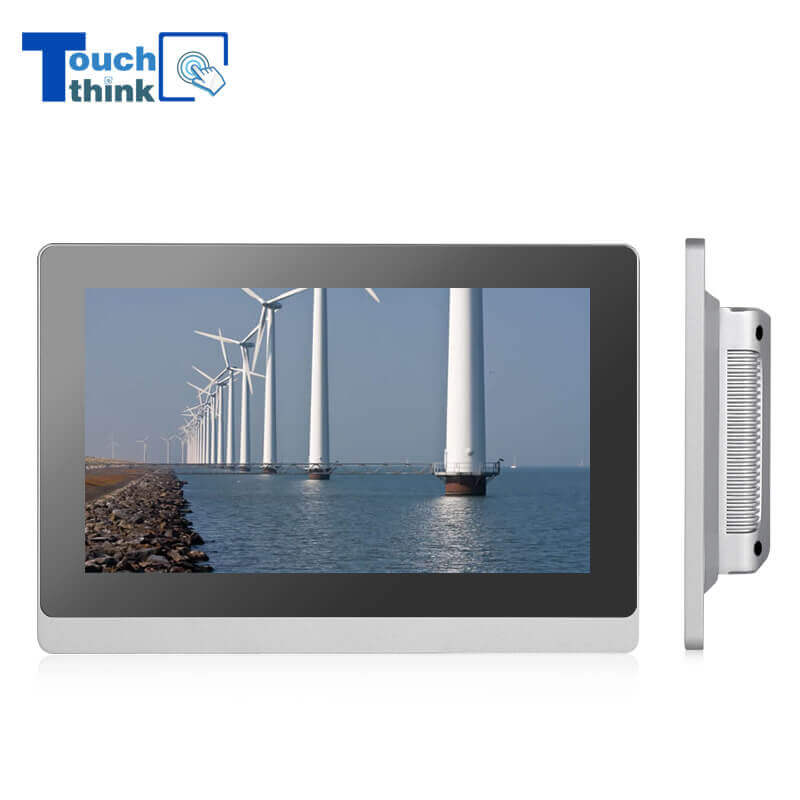 True Flat Capacitive Touch Screen Industrial Monitor IP65 21.5 inch