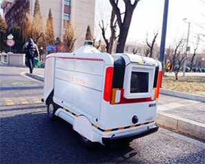 Unmanned Delivery Vehicle Equipped With Embedded PC and Touch Monitor